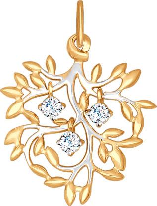 Кулоны, подвески, медальоны SOKOLOV 035023_s кулоны подвески медальоны sokolov 031017 s