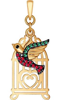 Кулоны, подвески, медальоны SOKOLOV 035057_s кулоны подвески медальоны sokolov 035318 s