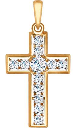 Крестики и иконки SOKOLOV 035114_s золотой крестик