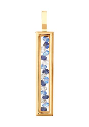 Кулоны, подвески, медальоны SOKOLOV 035357_s fashion золотой кулон с бриллиантами и полудрагоценными камнями от swarovski 7p30570