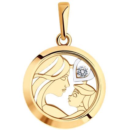 Золотые кулоны, подвески, медальоны Кулоны, подвески, медальоны SOKOLOV 035824_s фото