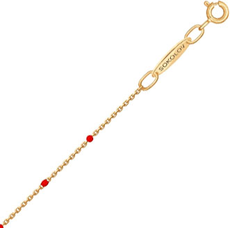 Браслеты SOKOLOV 050983_s красный браслет цепи веревки для женщин розовое золото цвет бисера шарм ювелирные изделия браслеты vintage модные аксессуары 26321