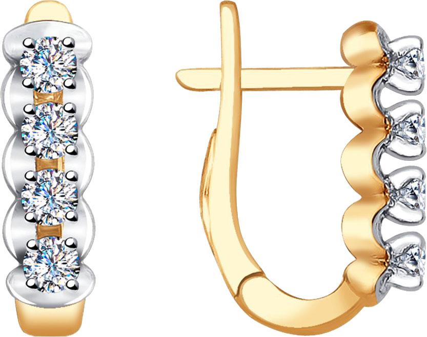 Фото «Золотые серьги SOKOLOV 1021279_s с бриллиантами»