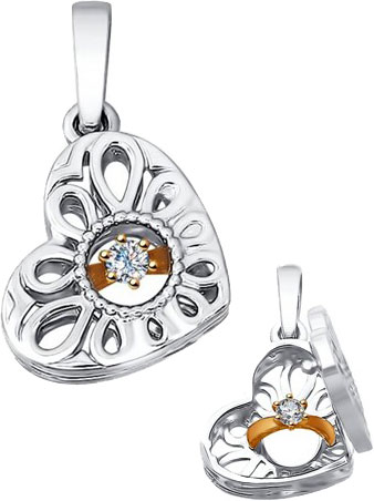 Кулоны, подвески, медальоны SOKOLOV 1030604_s
