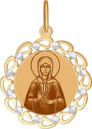 Крестики и иконки SOKOLOV 103414_s золотая иконка с ликом святой блаженной матроны московской