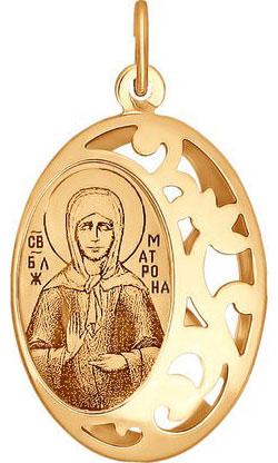Крестики и иконки SOKOLOV 104012_s золотая иконка с ликом святой блаженной матроны московской