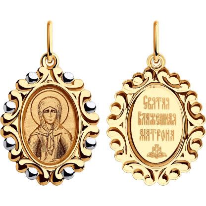 Крестики и иконки SOKOLOV 104195_s золотая иконка с ликом святой блаженной матроны московской
