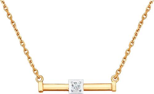 Колье SOKOLOV 1070029_s золотое колье с бриллиантами