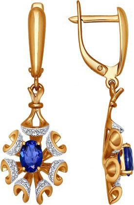 Серьги SOKOLOV 2020558_s серьги лукас золотые серьги с бриллиантами и сапфирами e01 d 33873 sabs5