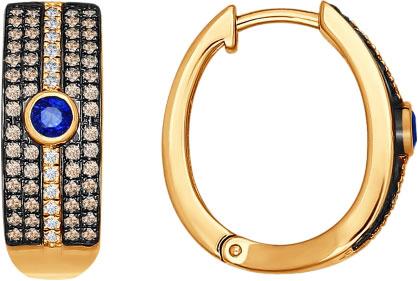 Серьги SOKOLOV 2020684_s серьги лукас золотые серьги с бриллиантами и сапфирами e01 d 33873 sabs5