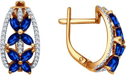 Серьги SOKOLOV 2020701_s серьги лукас золотые серьги с бриллиантами и сапфирами e01 d 33873 sabs5