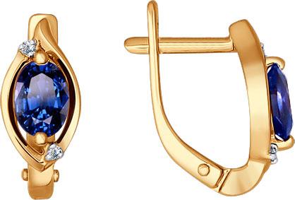 Серьги SOKOLOV 2020749_s серьги лукас золотые серьги с бриллиантами и сапфирами e01 d 33873 sabs5