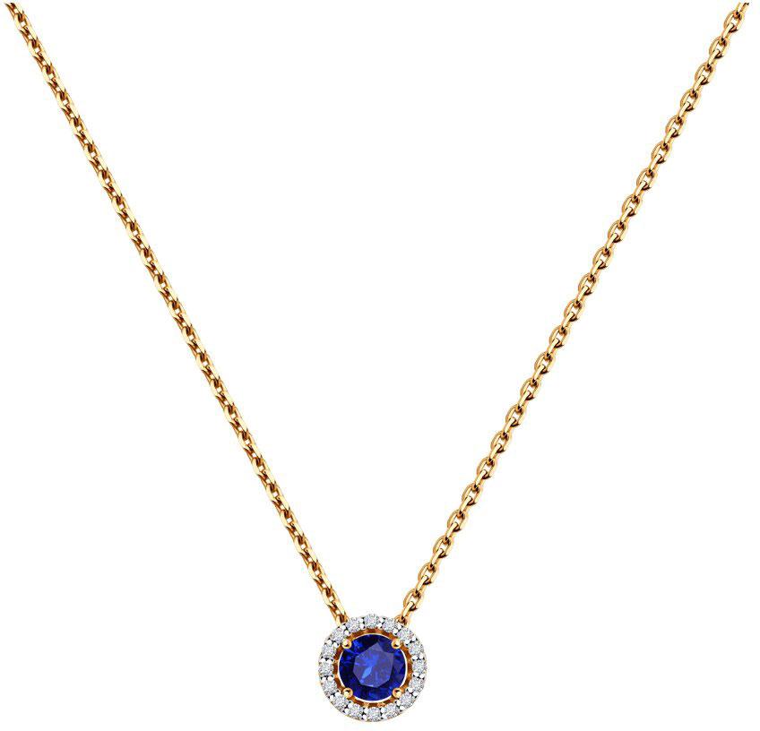 Колье SOKOLOV 2070008_s золотое колье с бриллиантами