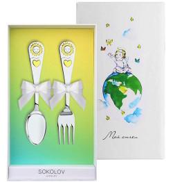 Купить со скидкой Столовое серебро SOKOLOV 24013_s
