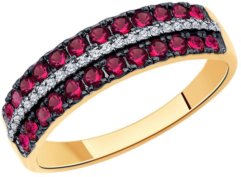 Кольца SOKOLOV 4010611_s кольцо soul diamonds женское золотое кольцо с бриллиантами и рубинами buhk 1048 14kw