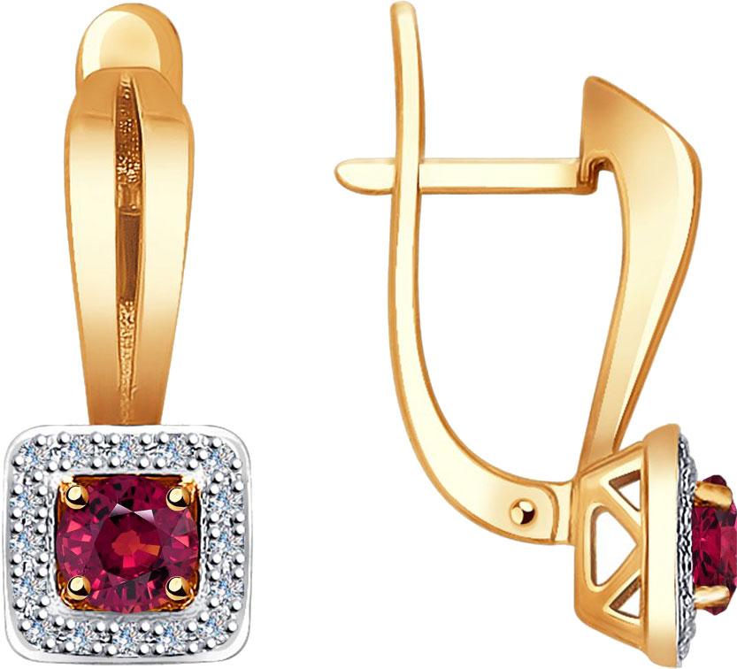Фото «Золотые серьги SOKOLOV 4020387_s с рубинами, бриллиантами»