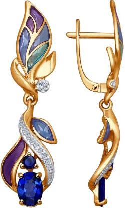 Серьги SOKOLOV 6029021_s запонка victor mayer золотые запонки с бриллиантами и эмалью v1256bw