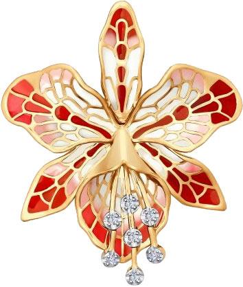 Броши SOKOLOV 6049006_s брошь sokolov золотая брошь с куб циркониями nd040186