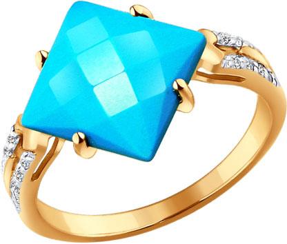 Кольца SOKOLOV 714240_s кольца колечки кольцо симфония им бирюзы