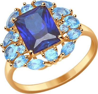 Кольца SOKOLOV 714313_s sokolov женское золотое кольцо с куб циркониями nd017142 16