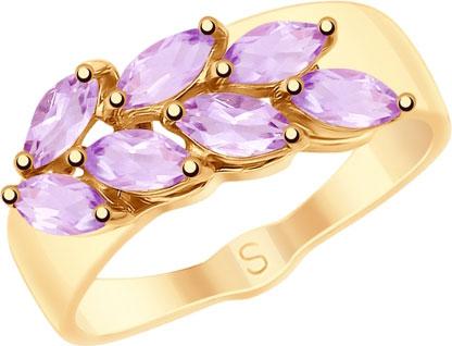 Кольца SOKOLOV 715223_s золотое кольцо ювелирное изделие 01k623290