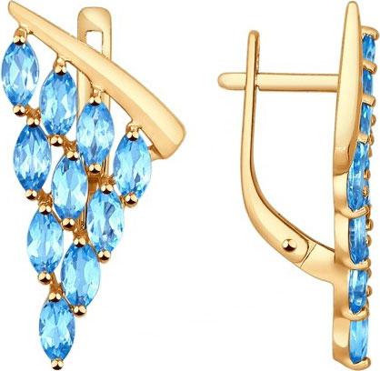 Серьги SOKOLOV 724393_s серьги эстет золотые серьги с топазами est01с312730t2