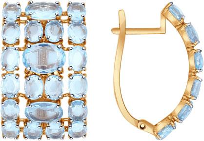 Серьги SOKOLOV 724513_s sokolov золотые серьги с куб циркониями nd027144