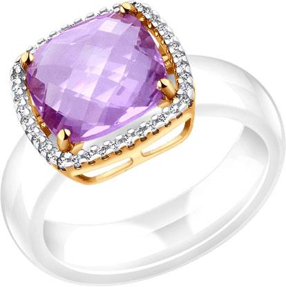 Кольца SOKOLOV 790008_s женские кольца jv женское серебряное кольцо с синт аметистом в позолоте 30 014 510 030 gams yg 18