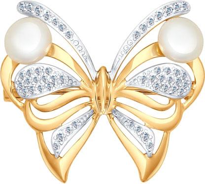 Броши SOKOLOV 794004_s серебряная брошь в виде бабочки sokolov