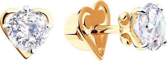 Серьги SOKOLOV 81020254_s sokolov золотые серьги с камнями swarovski nd81020165