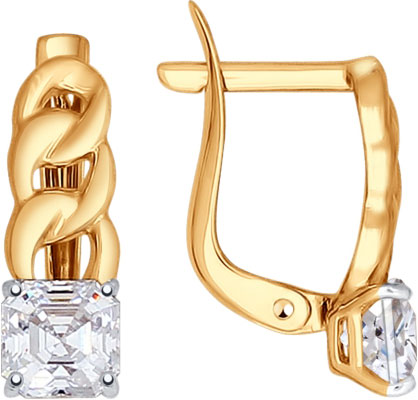 Серьги SOKOLOV 81020279_s sokolov золотые серьги с камнями swarovski nd81020165