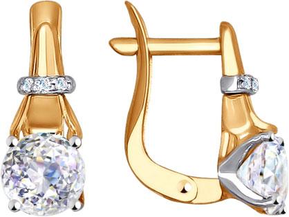 Серьги SOKOLOV 81020306_s sokolov золотые серьги с камнями swarovski nd81020165