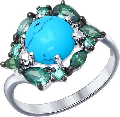 Кольца SOKOLOV 83010020_s кольца колечки кольцо симфония им бирюзы