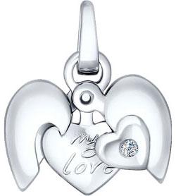 Кулоны, подвески, медальоны SOKOLOV 87030001_s жен мотаться уникальный дизайн в виде подвески кулон серебряный одинарная цепочка перо серьги назначение повседневные