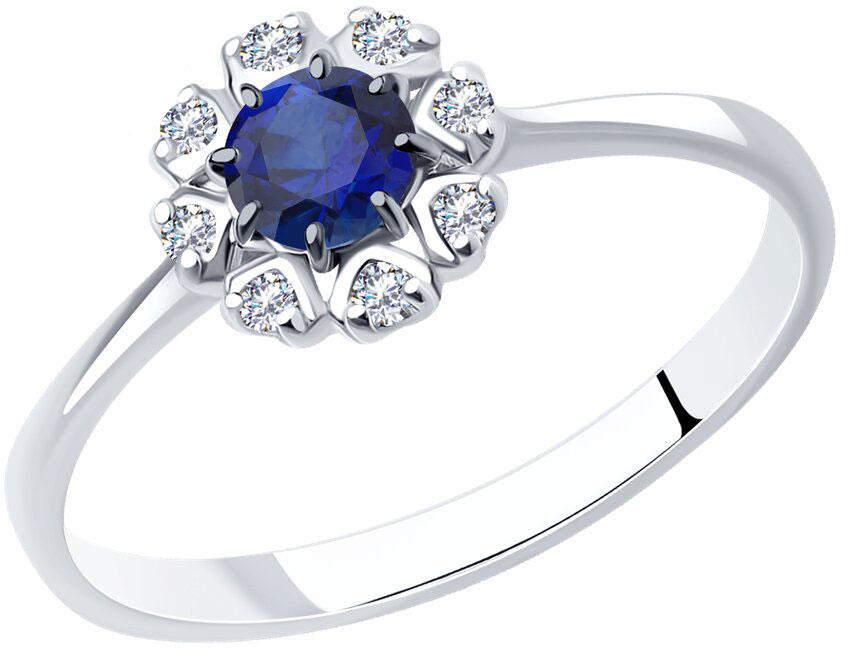 Кольца SOKOLOV 88010007_s ювелирные кольца karmonia авторское серебряное кольцо с камнями рубин сапфир