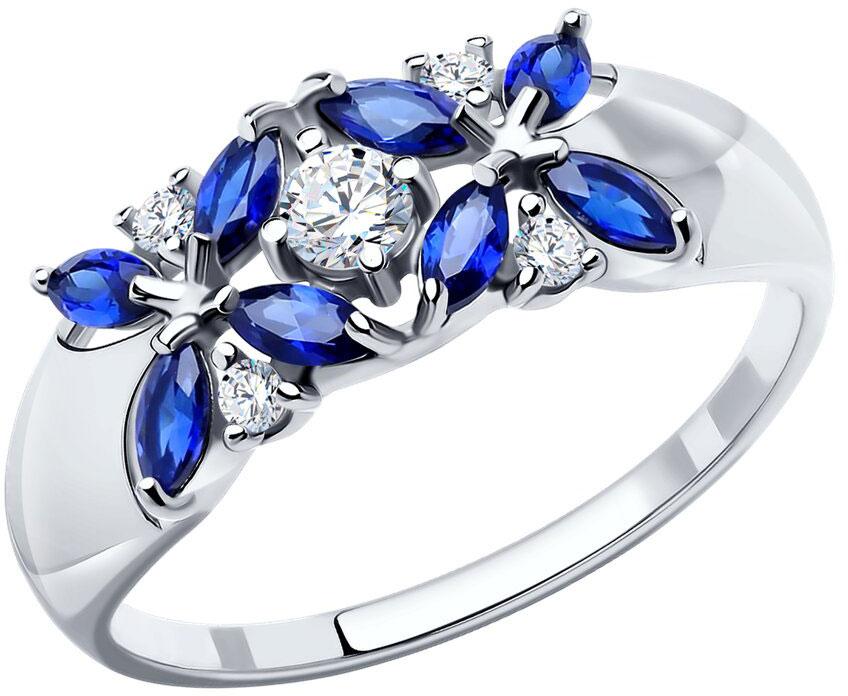 Кольца SOKOLOV 88010032_s женские кольца jv женское серебряное кольцо с куб циркониями cba330r 001 wg 17 5