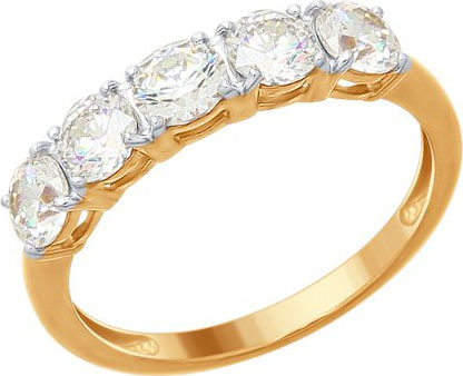 Кольца SOKOLOV 89010076_s_17-5 золотые кольца высокой пробы