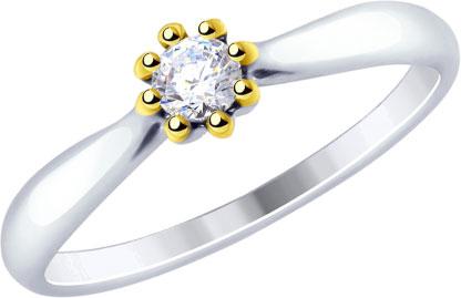 Кольца SOKOLOV 89010105_s_18 золотые кольца высокой пробы