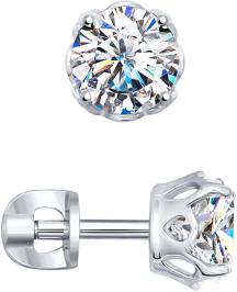 Серьги SOKOLOV 89020025_s серьги expression jewelry серебряные серьги пусеты запятые