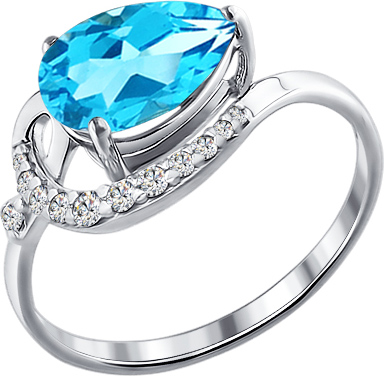 Кольца SOKOLOV 92010277_s moonka studio серебряное кольцо с топазом