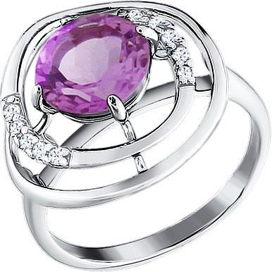 Кольца SOKOLOV 92010538_s женские кольца jv женское серебряное кольцо с синт аметистом в позолоте 30 014 510 030 gams yg 18