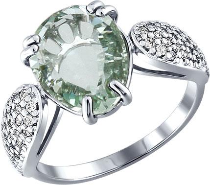 Кольца SOKOLOV 92010779_s кольцо с тонированным кварцем мотылек кнкр 2758