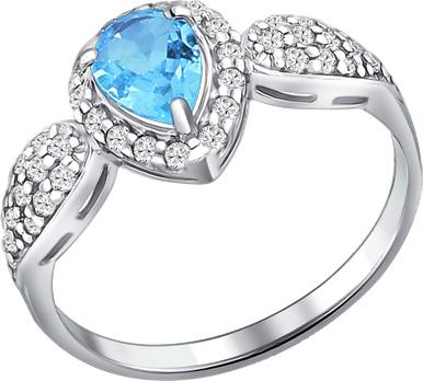 Кольца SOKOLOV 92010896_s moonka studio серебряное кольцо с топазом