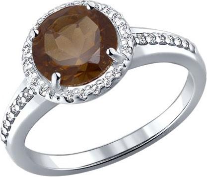 Кольца SOKOLOV 92010970_s кольцо серебро с раухтопазом родник скнрт 8460