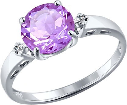 Кольца SOKOLOV 92011013_s женские кольца jv женское серебряное кольцо с синт аметистом в позолоте 30 014 510 030 gams yg 18