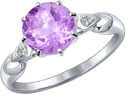 Кольца SOKOLOV 92011087_s женские кольца jv женское серебряное кольцо с синт аметистом в позолоте 30 014 510 030 gams yg 18
