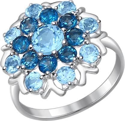 Кольца SOKOLOV 92011221_s женские кольца jv женское серебряное кольцо с куб циркониями f 642r 001 wg 17 5