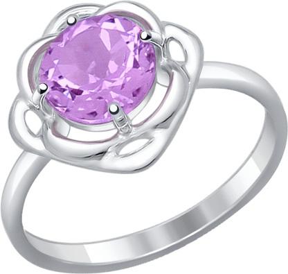 Кольца SOKOLOV 92011248_s женские кольца jv женское серебряное кольцо с синт аметистом в позолоте 30 014 510 030 gams yg 18