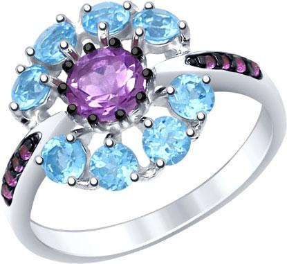Кольца SOKOLOV 92011398_s женские кольца jv женское серебряное кольцо с синт аметистом в позолоте 30 014 510 030 gams yg 18