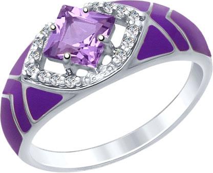 Кольца SOKOLOV 92011405_s женские кольца jv женское серебряное кольцо с синт аметистом в позолоте 30 014 510 030 gams yg 18